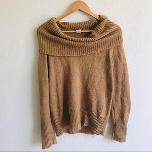 J.Crew off the shoulder wool blend sweater